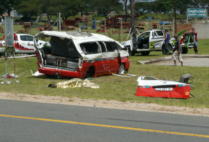 Three killed in taxi accident